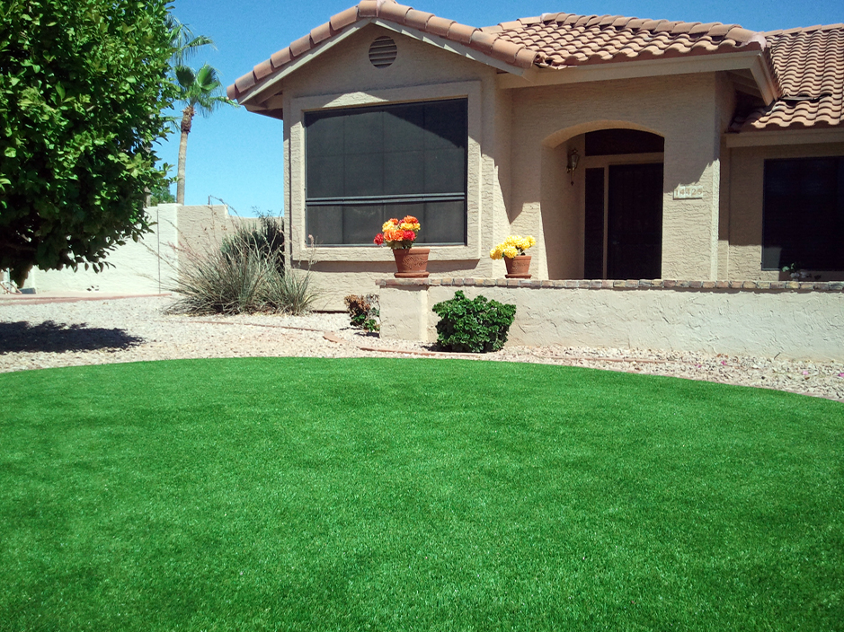 Faux Turf Greenvale New York Lawn Front Yard